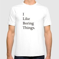Boring Mens Fitted Tee White SMALL