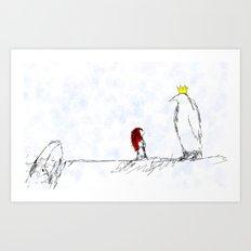 The King of All Penguins Art Print