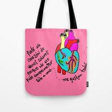 corazón de colores Tote Bag