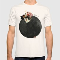 Life on Earth  | Collage | White Mens Fitted Tee Natural SMALL