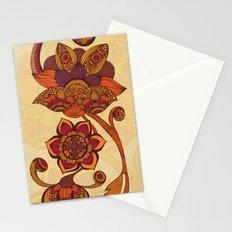 Boho Flowers Stationery Cards
