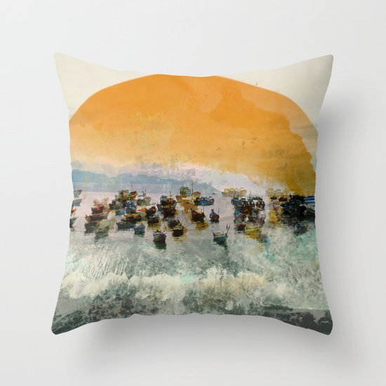 Near Harbor Throw Pillow