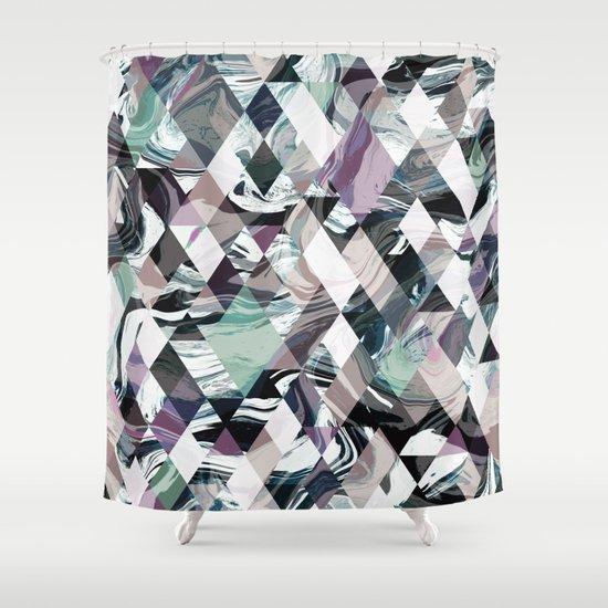Diamond Rock Shower Curtain