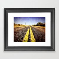 1000 Miles To No Where  Framed Art Print