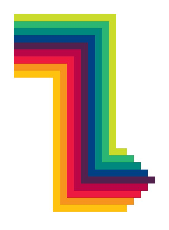 Colour Arrow Art Print