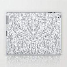 Abstract Lace on Grey Laptop & iPad Skin