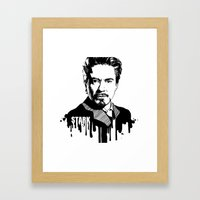 Avengers In Ink: Iron Ma… Framed Art Print