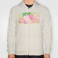 Pretty Pink Posies -- Abstract Painterly Floral with Ranunculus Stylized Hoody