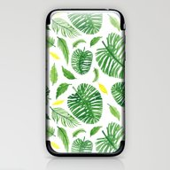 Palm Leaf Pattern iPhone & iPod Skin