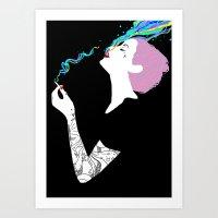Chromatic Smoke Art Print
