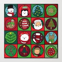Christmas Squares Canvas Print