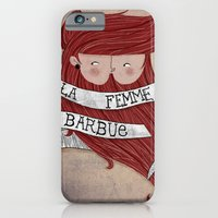 iPhone & iPod Case featuring Bearded woman by monrix