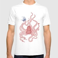 Kraken Mens Fitted Tee White SMALL