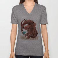 Space Brontosaurus  Unisex V-Neck