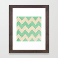 Malibu - Chevron Framed Art Print