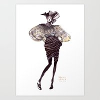 Fashion Sketches In Mixe… Art Print