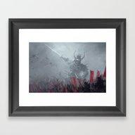 Dark Shogun Framed Art Print