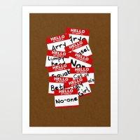 Hello... Art Print