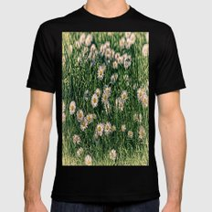 Daisy Carpet. Black SMALL Mens Fitted Tee