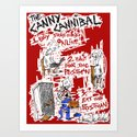 the Canny Cannibal Art Print