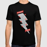slalom Mens Fitted Tee Black SMALL