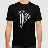 Yes Mens Fitted Tee Black SMALL