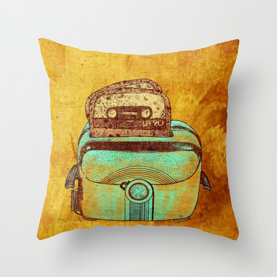 toasted tapes Throw Pillow