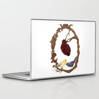 Laptop & iPad Skin featuring Two birds and a heart by Visionautas
