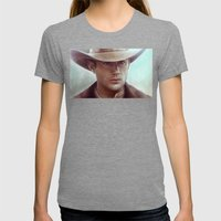 Dean Winchester From Sup… Womens Fitted Tee Tri-Grey SMALL
