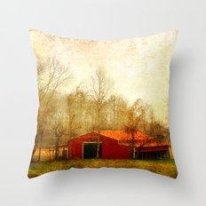 Flat Fork Barn Throw Pillow