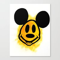 Smiley Mickey Canvas Print