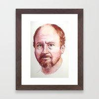 Portrait of Louis CK Framed Art Print