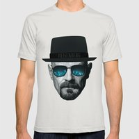 Breaking Bad Heisenberg Mens Fitted Tee Silver SMALL