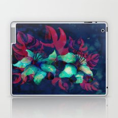Tropical Flower - Blue Lilly Laptop & iPad Skin
