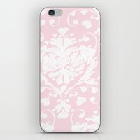 giving hearts giving hope: pink damask iPhone & iPod Skin