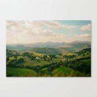 Valley Tilt Shift Canvas Print