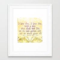 I Love Thee, I Love Thee… Framed Art Print