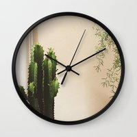 Cactus & Friend Wall Clock