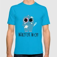 Monster Mash Mens Fitted Tee Teal SMALL