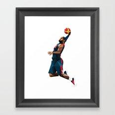 LeBron James Framed Art Print