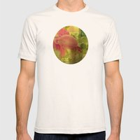 Flower Collage Mens Fitted Tee Natural SMALL