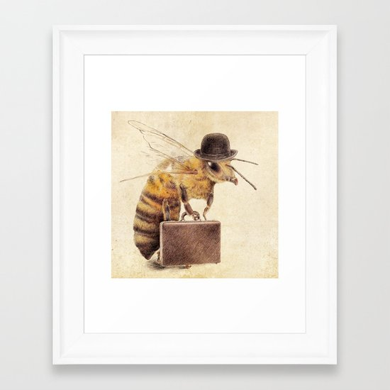 Worker Bee Framed Art Print