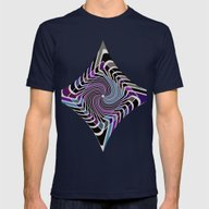 Pattern Meditation Conce… Mens Fitted Tee Navy SMALL