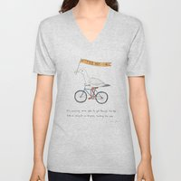 Seagulls On Bicycles Unisex V-Neck