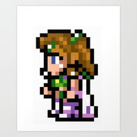 Final Fantasy II - Rosa Art Print
