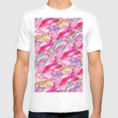 Crystal pattern Mens Fitted Tee White SMALL