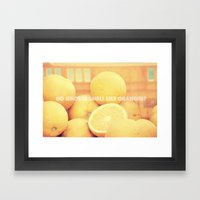 Do Ghosts Smell Like Ora… Framed Art Print