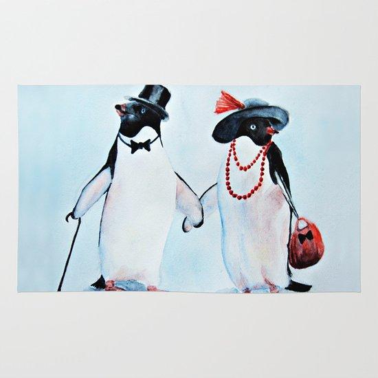 Penguin Area & Throw Rug
