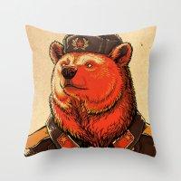 Work Harder, Comrade! Throw Pillow
