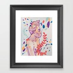Floral Figure Study Framed Art Print